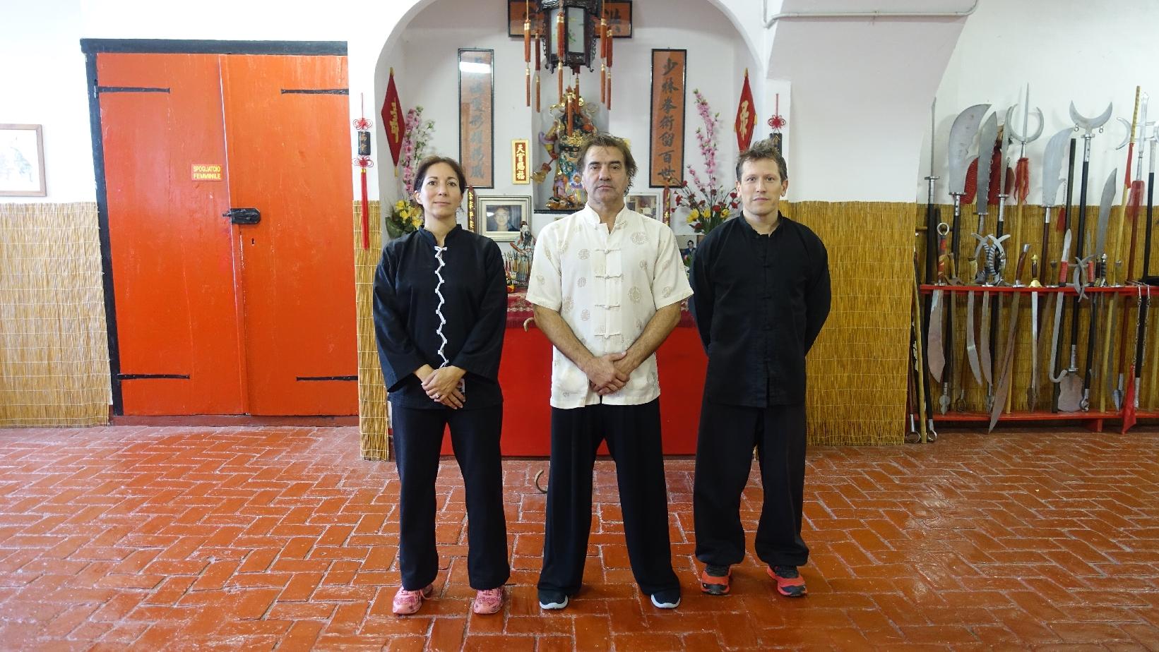 Laetitia, Sifu Paolo Cangelosi et Daniel (de gauche à droite)